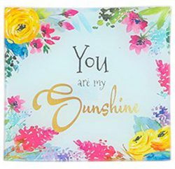 Square Dish large - You are my Sunshine