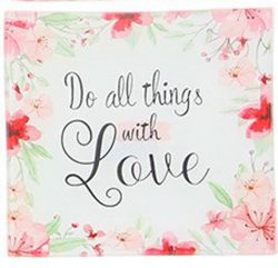 Square Dish small - Do all things with love