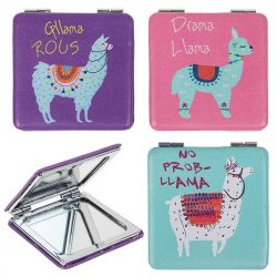 LLama mini mirror - Purple