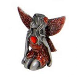 Birthstone Fairies Pewter Figurine July - Ruby