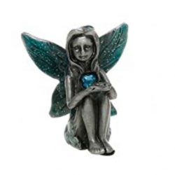 Birthstone Fairies Pewter Figurine March -Aquamarine