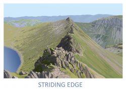 Striding Edge Fine Art Poster