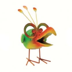 Green Bird with Glasses