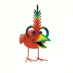 Red Bird with Glasses