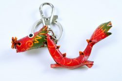 Leather Keyring - Dragon