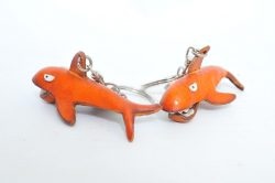 Leather Keyring - Shark