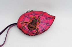 Leather Purse - Spider on Leaf