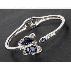 Blue Butterfly Bangle