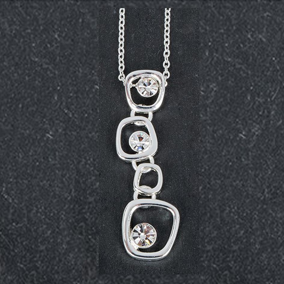 silver plated drop gems pendant south gallery