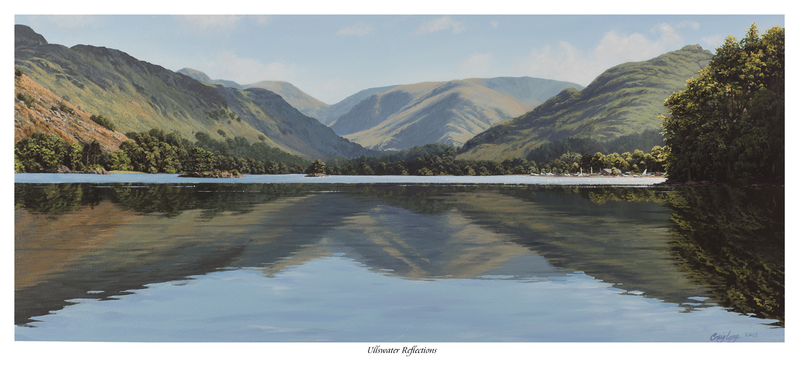 Ullswater Reflections Limited Edition Print - North South Gallery