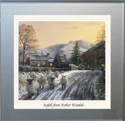 Scafell from Nether Wasdale Glass Coaster