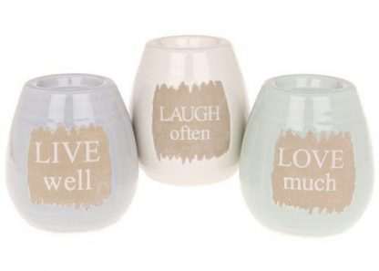 Chalk words tealight holder - round