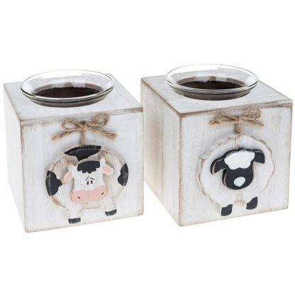 Farm friends tealight holder