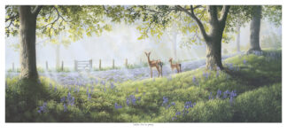Fallow Deer in Spring Original Painting