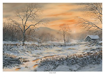 Winter Walk Snow Scene print
