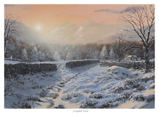 Langdale Snow Lake District Picture