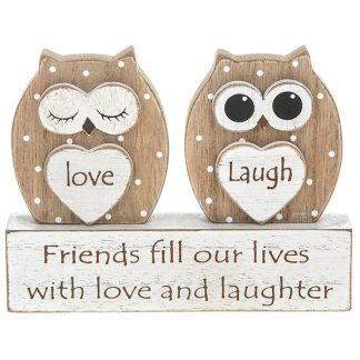Owl Table Plaque - Friends