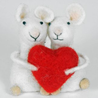 Mouse couple with Heart