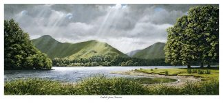 Catbells from Derwent Oil Painting