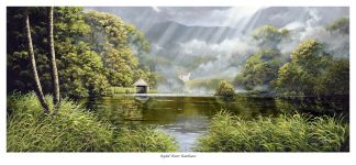 Rydal water Boat house Print