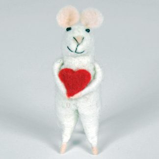 Felted Mouse with Heart