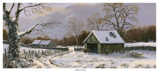 Lakeland Winter Original Oil Snow Scene