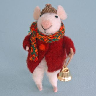 Felted Mouse with Bell