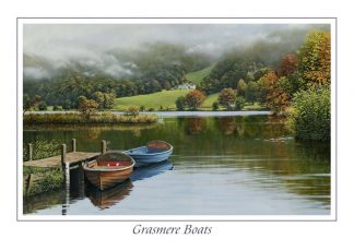 Grasmere Boats Greeting Card