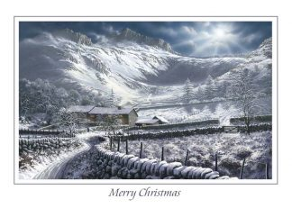 Langdales by Moonlight Christmas Card