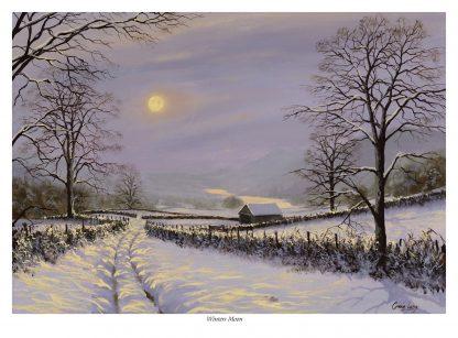 Winters Moon Original Oil Painting