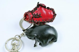 Leather Keyring - Boxing Glove