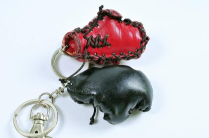 Leather Keyring - Boxing Glove