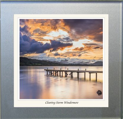 Photographic Glass Coaster - Clearing Storm Windermere
