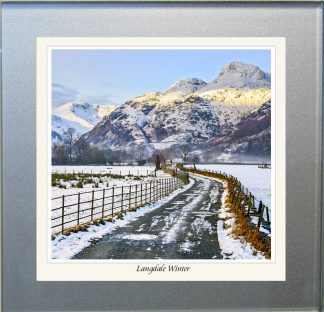Photographic Glass Coaster - Langdales Winter