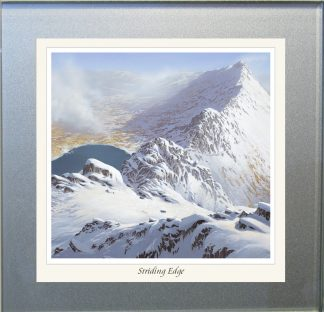 Striding Edge Snow Glass Coaster