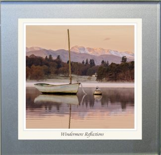 Photographic Glass Coaster - Windermere Reflections