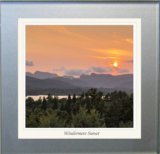 Photographic Glass Coaster - Windermere Sunset