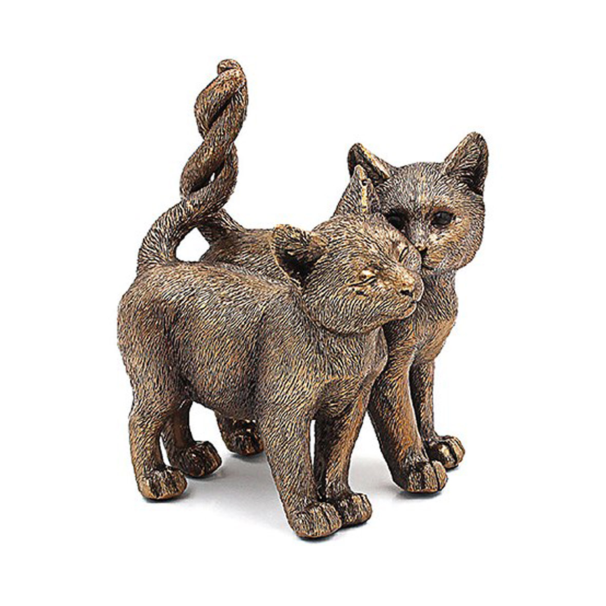 Bronzed Cat Figurines