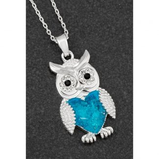 Seabreeze Owl Pendant Silver Plated – 40% off