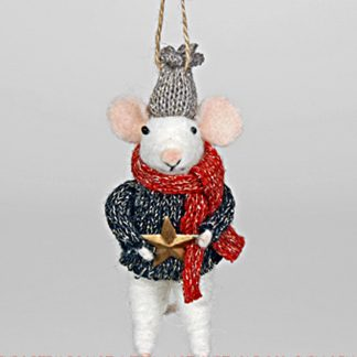 Christmas Felted Mouse with Star