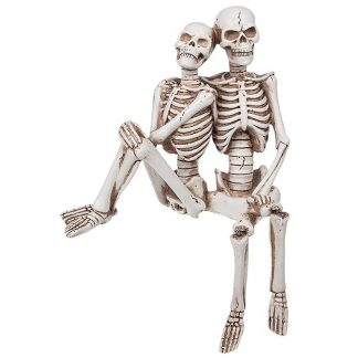 Funny Bone Skeleton Shelf Couple