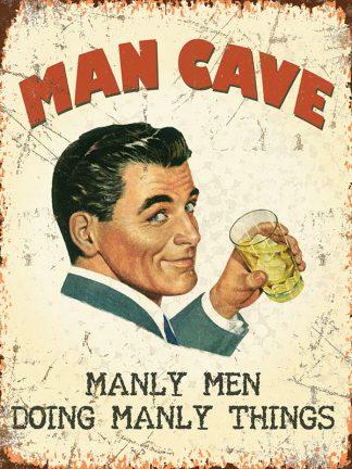 'Man Cave' Metal Wall Sign