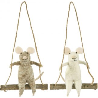 Felted Swinging Mouse