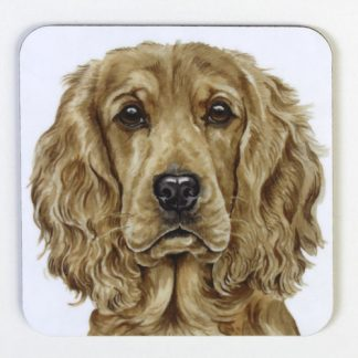 Golden Cockerspaniel Coaster