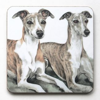 Whippet Pair Coaster