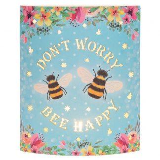 Bee Happy Starlight Lantern Blue