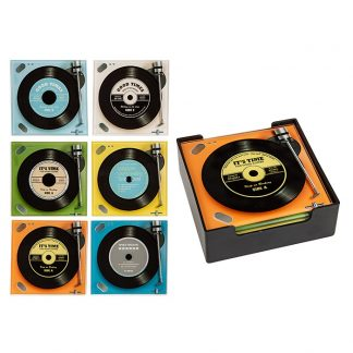 Record Coasters Square Set of 6