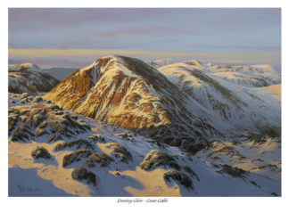 Evening Glow Great Gable Original Oil Painting