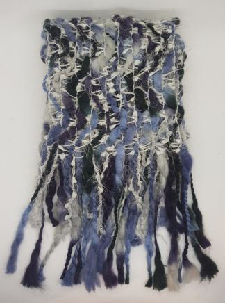 Heavy Knitted Scarf Blue