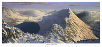 Dawn over Striding Edge Lake District Print